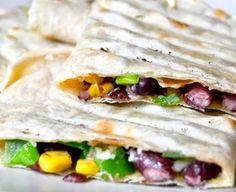 Vláčnější tortilly a fazolová quesadilla