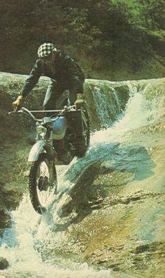 old school trial, Don Paco Bulto y la Bultaco Alpina.