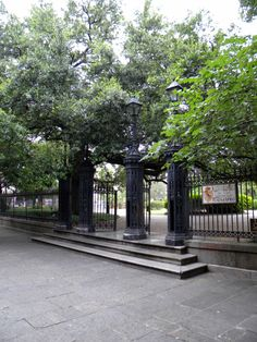 Area around gate to Jackson Square on St Peter St used for elopements.  For details on how to elope to this spot in New Orleans see my web page, http://www.figstreet.com/weddings