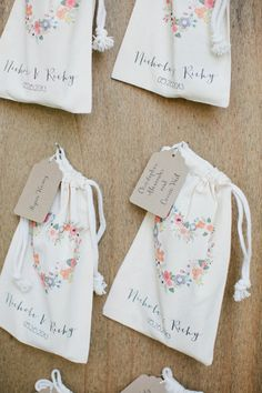 love seeing our favor bags on Southern Weddings (: you can find them here http://shop.weddingchicks.com/blushing-hearts-wedding-favor-bags/