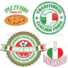 Set of authentic italian food stamp and labels  #GraphicRiver         Set of authentic italian food stamp and labels on white background, vector illustration     Created: 24February13 GraphicsFilesIncluded: PhotoshopPSD #JPGImage #VectorEPS Layered: No MinimumAdobeCSVersion: CS Tags: authentic #cuisine #delicious #diner #dinner #ethnic #flag #food #grunge #grungy #gyro #icon #illustration #italian #italy #label #love #lunch #menu #pizza #pizzeria #premium #quality #restaurant #rubber #spicy…