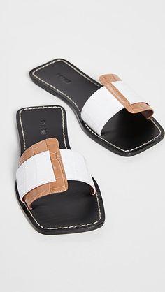 Leather Slippers, Leather Sandals, Flat Sandals, Women's Shoes Sandals, Sandals Outfit, Designer Sandals, Comfortable Sandals, Amelie, Crocs