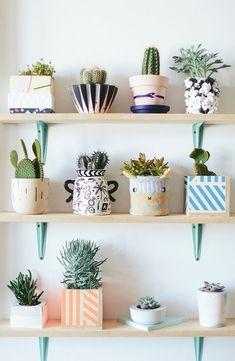 Pretty little planters.