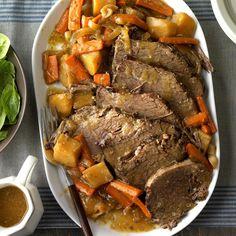 Slow-Cooked Rump Roast Crock Pot Slow Cooker, Crock Pot Cooking, Slow Cooker Recipes, Crockpot Recipes, Cooking Recipes, Crockpot Dishes, Cooking Ideas, Crockpot Rump Roast, Rump Roast Recipes