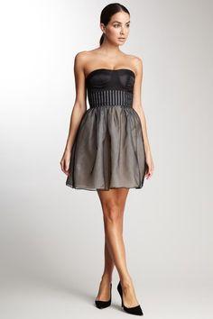 Organza Strapless Dress