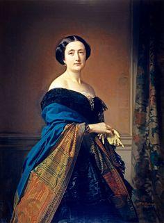 1856 Saturnina Canaleta de Girona, wife of Jaime Count of Eleta by Federico de Madrazo y Kuntz (Museo Nacional del Prado - Madrid, Spain) AR despot shadows inc. exp