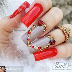 Interesting colors for these nails Gem Nails, Aycrlic Nails, Dope Nails, Fabulous Nails, Gorgeous Nails, Pretty Nails, Rhinestone Nails, Bling Nails, Colored Acrylic Nails