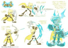 "Character designs for Ankama's video game ""Abraca"" - Bill Otomo"