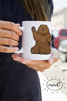Such a cute bear mug -- and he's even doing a #SicEm!