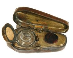 Travelling Violin Ink Well c1880
