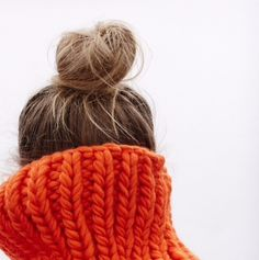 Chunky woollen knits and messy buns.. Winter staples