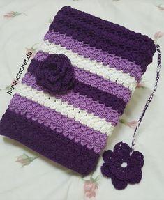 Crochet book cover Crochet Wallet, Free Crochet Bag, Crochet Clutch, Crochet Pillow, Love Crochet, Diy Crochet, Crochet Stitches, Crochet Book Cover, Crochet Books