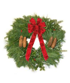 Gifts for Gardeners - Custom Wreath -round, square, heart or swag shape decorated with a bow of your choice | burpee.com