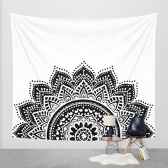 Buy Black and White Mandala Wall Tapestry by haroulita. Worldwide shipping available at Society6.com. Just one of millions of high quality products available.