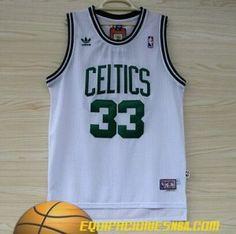 Adidas Camiseta nba baratas Boston Celtics Bird #33 blanco malla pano