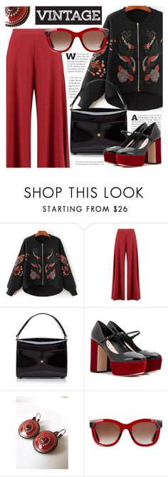 """Vintage"" by cilita-d ❤ liked on Polyvore featuring Boohoo, Marc Jacobs, Miu Miu, Sara Attali, Thierry Lasry and vintage"