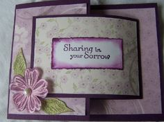 The Flower is used as the catch to close the card.