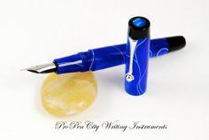 Deep Blue Fountain Pen with Meisternib/Jowo by propencitycrafts