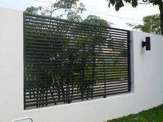 Mild Steel Metal Fence - Modern Design