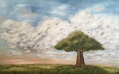 Sarah J. Loecker : Step by Step Large format tree painting White Acrylic Paint, White Acrylics, Acrylic Brushes, Step By Step Painting, Large Format, Contemporary Landscape, Large Painting, Art Tutorials, Tree Paintings