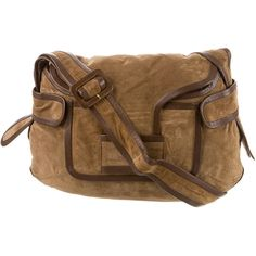 Pre-owned Pierre Hardy Suede Crossbody Messenger Bag ($380) ❤ liked on Polyvore featuring bags, messenger bags, brown, cross body messenger bag, brown bag, zipper bag, crossbody bag and cross body