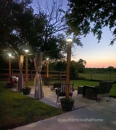 Outdoor Curtains For Patio, Diy Patio, Patio Ideas, Backyard Ideas, Outdoor Hammock, Gazebo Ideas, Outdoor Privacy, Outdoor Patios, Backyard Games