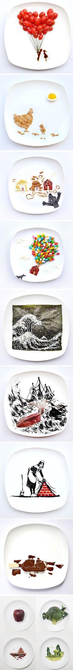 1 jour = 1 oeuvre dans l'assiette 31 days of food art par Hong Yi