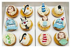 Oh Cupcakes!: Liniers - Macanudo! Dessert Recipes, Desserts, Mini Cupcakes, Chocolate, Cake Decorating, Bakery, Sweets, Cookies, Party