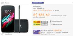 "Smartphone Alcatel Idol 3 Dual Chip Android 5.0 Tela 4.7"" 16GB 4G 13MP >"