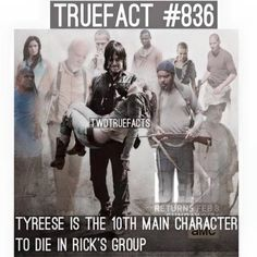 TWD. Lori, T-Dog, Hershel, Merle, Bob, Beth, Tyreese, Andrea, Shane, Dale. (Not including Lizzie & Mika or Sophia)