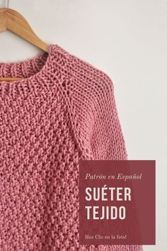 Knitting Stiches, Knit Patterns, Knit Crochet, Pullover, Sweaters, Kids, Clothes, Outfits, Etsy