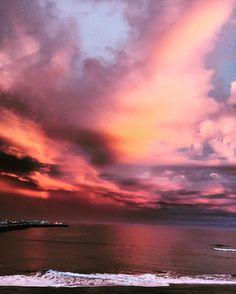 Santa Cruz CA: Dramatic sky #ocean #santacruz #landscape #nature #sunset by jennielynnholmes