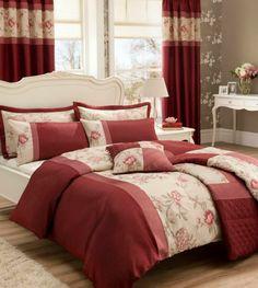 GARDENIA  red stunning embroidered bedlinen