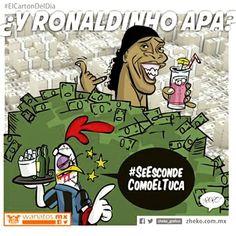 """Y Dinho' apa'? #ElCartonDelDia #Zheko_grafico #DisfrutenloConLeche #MonerosFutboleros"