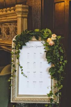 Elegant Framed and Mirrored Seating Displays - 2015 Wedding Trends and Ideas