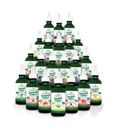 stevia drops are a must -- use them in your coffee or your choco delight. my faves are vanilla creme, english tofee and hazelnut