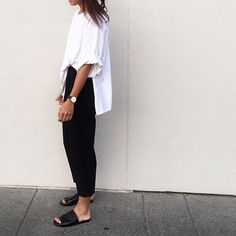 Cool Chic Style Fashion: Fashion Inspiration: How to Wear Black and White for Summer 2015