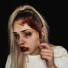 torn // day 6/31 of #31DaysOfHalloween . . . (#makeup #halloweenmakeup #halloween #sfxmakeup #sfx #gore)