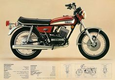 Supplied by a specialised motorcycle literature dealer with 30 years experience, who has earned a worldwide reputation for the range and quality of reproduced, new and antique publications sold. Yamaha Rx 135, Yamaha Bikes, Old Motorcycles, Vintage Bikes, Vintage Cars, Motorcycle Posters, Japanese Motorcycle, Classic Bikes, Street Bikes