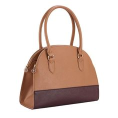 Glamorous Dome Shoulder Bag | Avon. Trend alert - The leatherlike on-trend dome shape bag features a deep center inner compartment with two spacious zip compartments on either side.  FEATURES •Double handles connected with square ring •Goldtone hardware •Double zipper closure, one on each side •Zipper has Signature logo pull-tabs •One inner zip and two slip pockets Shop with Avon Rep Beth Bailey at her Avon eStore LipstickShoesAndMore.com!
