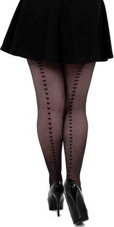 aa36724c06d04 #Curvy Plus Size Back Seamed Fashion Bug Pantyhose with Hearts www. fashionbug.us