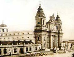 Catedral Metropolitana a finales del siglo XIX o principios del XX, fue destruida por el terremoto de Navidad de 1917