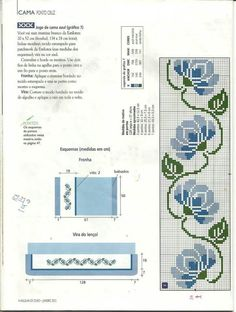 Bordo fiori stilizzati punto croce