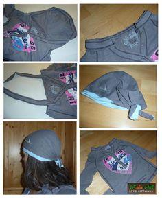 Upcycling hoody to tshirt and bandana