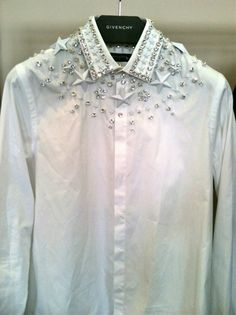 GIVENCHY Star Studded White Shirt Fall Winter 20