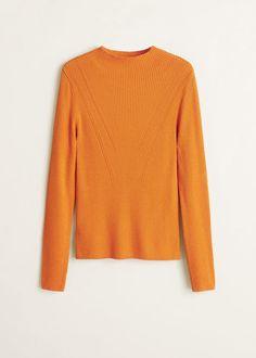 6c4cb5541 Camisola fina canelada - Cardigãs e camisolas de Mulher