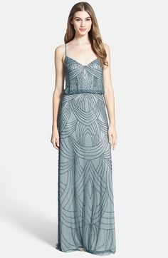 Free shipping and returns on Adrianna Papell Beaded Chiffon Blouson Dress at Nordstrom.com. Delicate straps crisscross the back and suspend an elegant blouson dress alight in exquisitely patterned beads down the sweeping hemline.