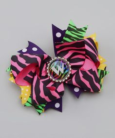 Take a look at this Totally '80s Initial Layered Bow by Precious Treasures Bowtique on #zulily today!