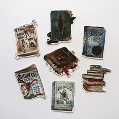 Harry Potter books themed stickers packpaper by SantaMatita