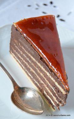Tort Dobos (reteta originala e cu masa de cacao si unt de cacao)